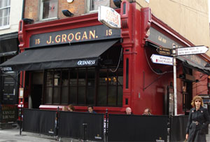 Grogan's Pub in Dublin (featured in *Lagan Love* by Peter Murphy)