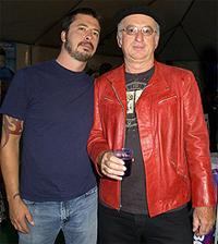 *Rock Gods* author Robert Knight (r) with Dave Grohl of Foo Fighters